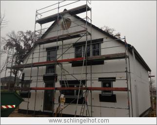 Rohbau mit gedämmter Fassade