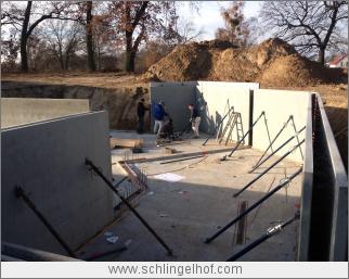 Bauüberwachung - Montage der Kelleraußenwände - WU-Keller