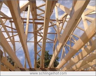 Dachstuhl Detail Bungalow